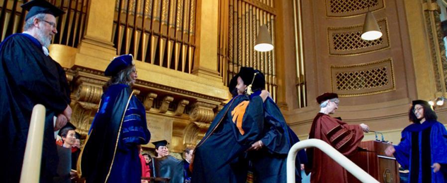 AFAM Faculty greet AFAM PhD Recipients
