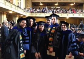Several 2017 PhD reciepients in African American Studies at Yale