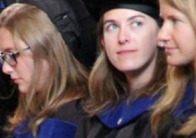 Photo of three AFAM PhD grads