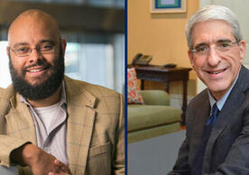 Phillip Atiba Goff, Carl I. Hovland Professor of African American Studies and Professor of Psychology, and Peter Salovey, President of Yale University and Chris Argyris Professor of Psychology
